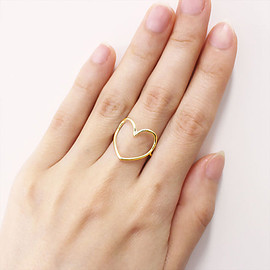 "Enasoluna - Heartful ring""Yellow gold"""