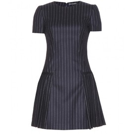 Alexander McQueen - Pinstriped wool dress