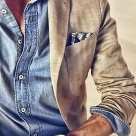like men's stlye - denim and linen
