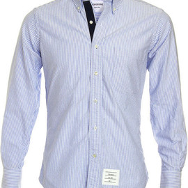 Thom Browne - Navy Grosgrain Trim Sport Shirt