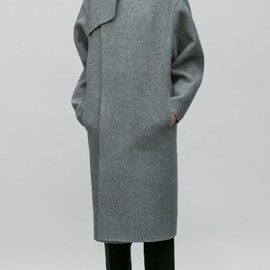 HYKE - DOUBLE FACED WOOL COAT