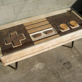 The Bohemian Workbench  - Nintendo Controller Coffee Table - FUNCTIONAL