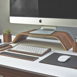 GROVEMADE - WALNUT MONITOR STAND
