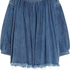 Chloé - Frayed denim top