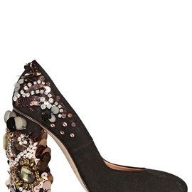 DSquared2 - FW2014 120MM JEWELED SUEDE PUMPS
