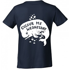 Colour Me Wednesday - Colour Me Wednesday Whale T Shirt