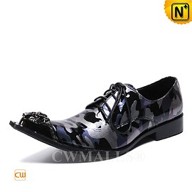 CWMALLS - Men Leather Shoes | Lace Up Camo Printed Dress Shoes CW719278 | CWMALLS.COM