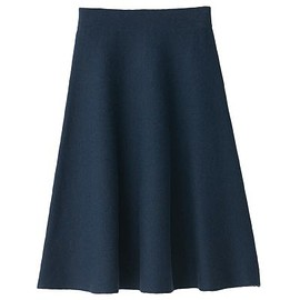 Muji - Smoky Blue // Double Face Flair Skirt