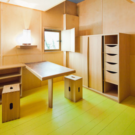 Le Corbusier - Interior, Cabanon (super small house), Roquebrune-Cap-Martin, South of France