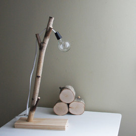 urbanplusforest - white birch forest lamp
