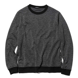 SOPHNET. - HEM ZIP CREW NECK TOP