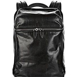 ALEXANDER WANG - INSIDE-OUT BACKPACK IN BLACK WITH RHODIUM 2015