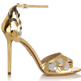 Charlotte Olympia - Sandals in leather and metal
