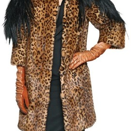 DSQUARED2 - Brown Goat Mink On Printed Weasel Fur Coat