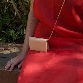Building Block - the Card Sling in Vegetable tanned leather