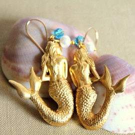 iloniti - Vintage style Mermaid earrings