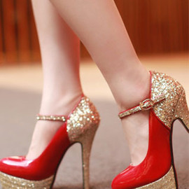 Elegant Sexy Paillette High-heeled Shoes