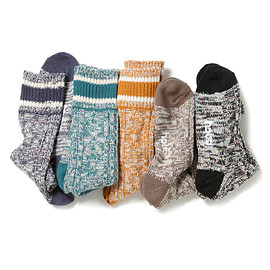 hobo - Mixed Color Cable Socks