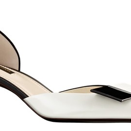 Louis Vuitton - Magic Square D'Orsay Pump in glazed calf leather