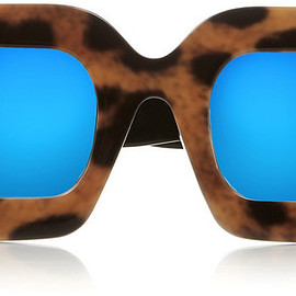 HOUSE OF HOLLAND - House of Holland Eggy leopard-print acetate mirrored sunglasses