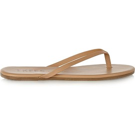 TKEES - Lily matte-leather flip flops
