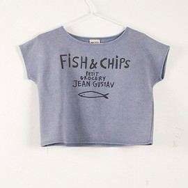 BOBO CHOSES - Sweat shirt large fit S/S Fish&Chips