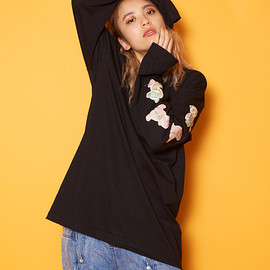 Candy stripper - PUT ON SHORTS TEDDY L/S TEE