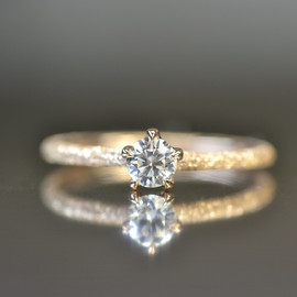kataoka - k18 heart & cupid diamond ring