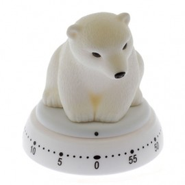KIKKERLAND - POLAR BEAR KITCHEN TIMER