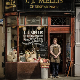 Edinburgh,Scotland - Scottish Cheese shop
