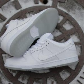 NIKE SB - NIKE SB DUNK LOW PRO WHITE/WHITE-LIGHT BASE GREY