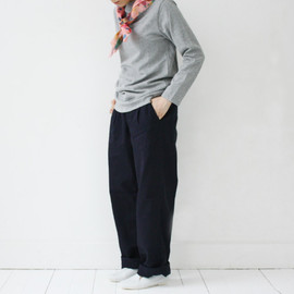 STANDARD TRADE - Cotton Tack Pants〈 Porter 〉 Navy