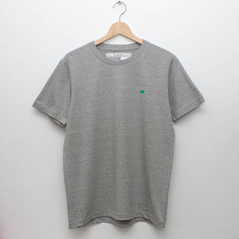 cup and cone - Embroidery Tee - Grey x Mint
