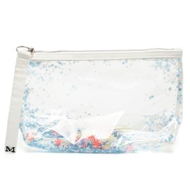 Maison Michel - 'Zoe' Sequin Filled PVC Clutch