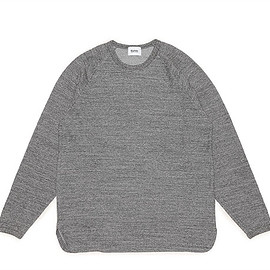 blurhms - Rough&Smooth Thermal Loose Fit Raglan L/S-Charcoal