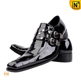 CWMALLS - Men Black Patent Leather Dress Shoes CW701107 - cwmalls.com