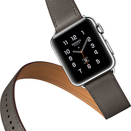 HERMES - Apple Watch Hermes - Double tour (etain)