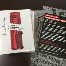 Paul Gorman - PUNK LONDON  IN THE CITY, 1975-78. 著者サイン&フライヤー付き