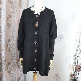 coat - Women coat, Woman sweater, knitted coat, coat Black, cardigan Black, knitwear