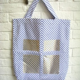STARSTYLING - STARSTYLING BLUE STRIPES BAG