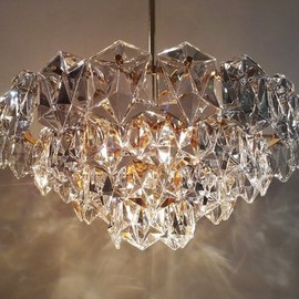 Anonymous - Kinkeldey vintage crystal & gilt brass chandelier