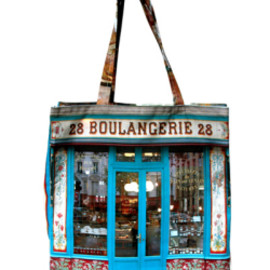 Maron Bouillie - paris retro collection bag / BOULANGERIE