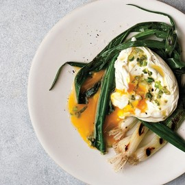 Bon Appétit - Seared Scallions with Poached Eggs