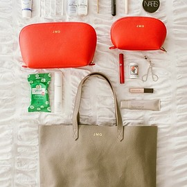 CUYANA - Leather Tote Bag & Travel Case Set