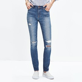 """Madewell - 9"""" High-Rise Skinny Jeans: Rip and Repair Edition"""