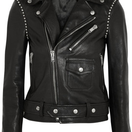SAINT LAURENT - STUDDED LEATHER BIKER JACKET
