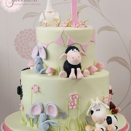party! - Baby Shower Cake Animals