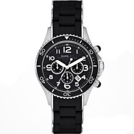 MARC BY MARC JACOBS - MARC JACOBS MBM2551 Black Silicone Wrapped Stainless Steel Watch