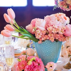 A beautiful Spring table indeed.