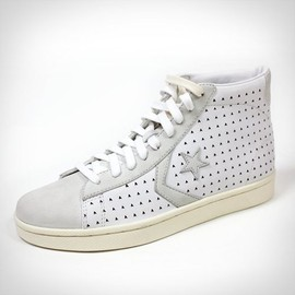 CONVERSE - CONVERSE X ACE HOTEL WHITE PRO LEATHER HIGH TOPS